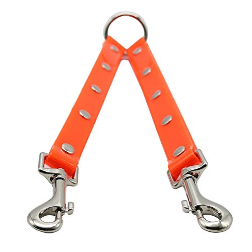 VAXT Length: 25 cm, TPU Material Pet Dogs 2 in 1 Tangle-Free Traction Rope Bivalent Pet Dog Walk Leash (Color : Red)
