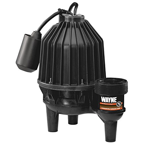 (Wayne SEL50 1/2 hp Thermoplastic Sewage Pump with Tether Float)