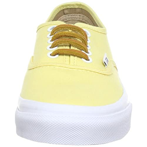 hot sale 2017 Vans Authentic Slim VN-0QEV7GT (Brushed Twill) Yellow Shoes US 7c69c113b