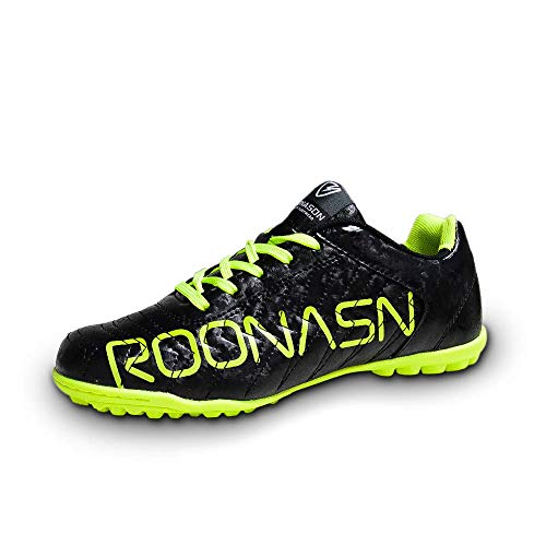 9e0d3ffb51e ROONASN Kids  Outdoor Indoor Soccer Shoes Athletic Soccer Cleats Football Boots  Shoes(Little