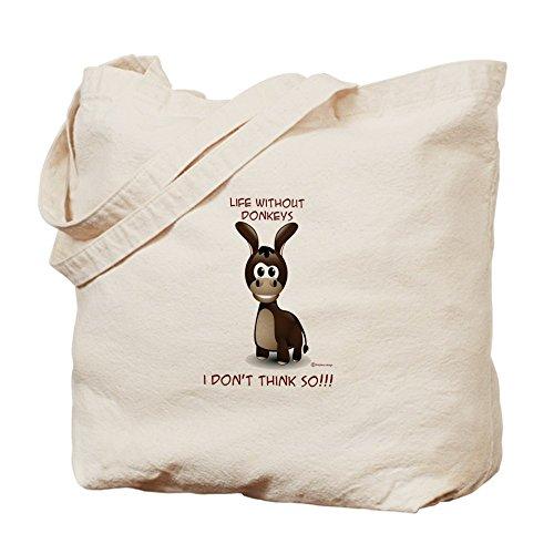 CafePress–vida sin los Burros Tote Bag–Natural gamuza de bolsa de lona bolsa, bolsa de la compra