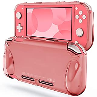 JETech Protective Case for Nintendo Switch Lite 2019, Grip Cover with Shock-Absorption and Anti-Scratch Design, Coral