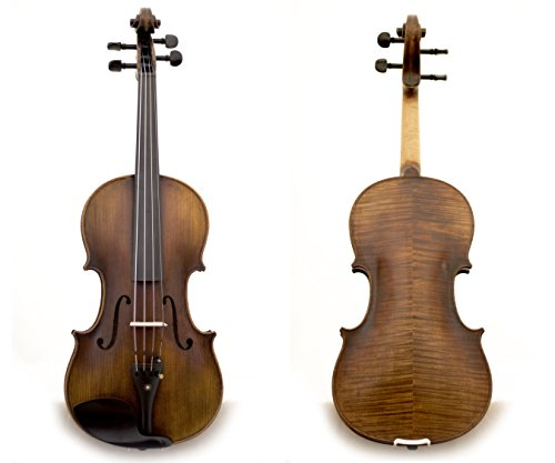 Sky Guarantee Mastero Sound Copy of Stradivarius 4/4 Size Professional Hand-made 4/4 Full Size Two-Piece Back Acoustic Violin Unique Antique Style ALL…
