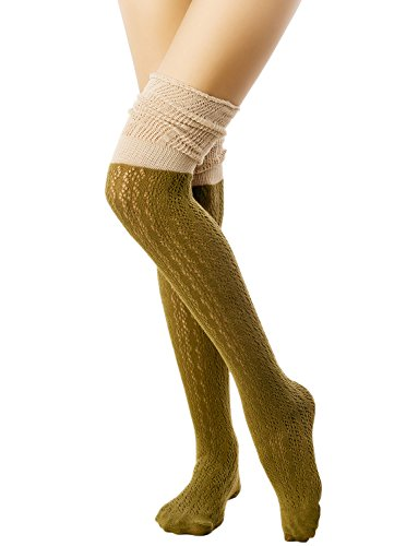 iB iP Knitting Thermal Stitching Knee High