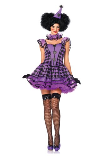 Pretty Parisian Clown Costume - Medium/Large - Dress Size (Hunger Games Halloween Costumes Effie Trinket)