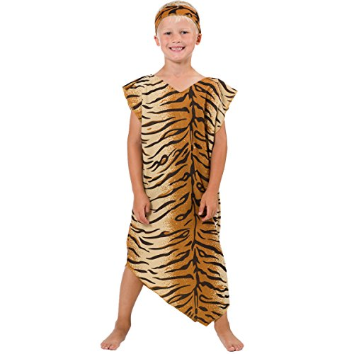Stig Costume Kids The For (Caveman or Cavegirl Costume for Kids One Size 5-9)