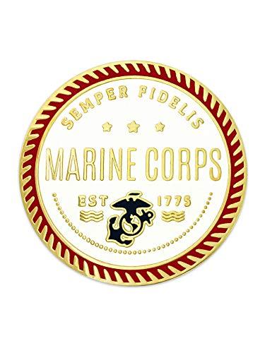 (PinMart U.S. Marine Corps Semper Fidelis Military Enamel Lapel Pin Jewelry)