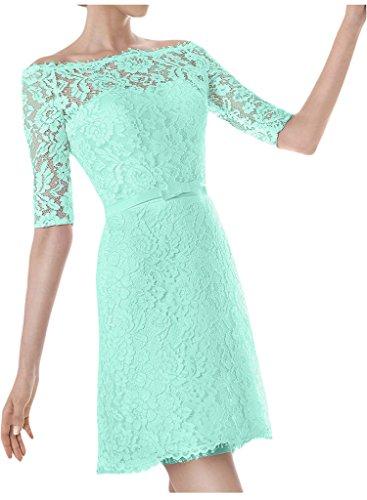 Ivydressing Halb Brautkleid Aermel U Ausschnitt Hochzeitskleid Sage Kurz Abendkleid Damen rtn6qHSr