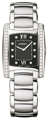Ebel Brasilia Ladies Black Face Diamond Watch 9256M38/5810500B - 1215777