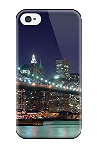 Elliot D. Stewart's Shop Hot Fashion Design Case Cover For Iphone 4/4s Protective Case (brooklyn Bridge Panorama Dual Monitor) 5357746K42702446