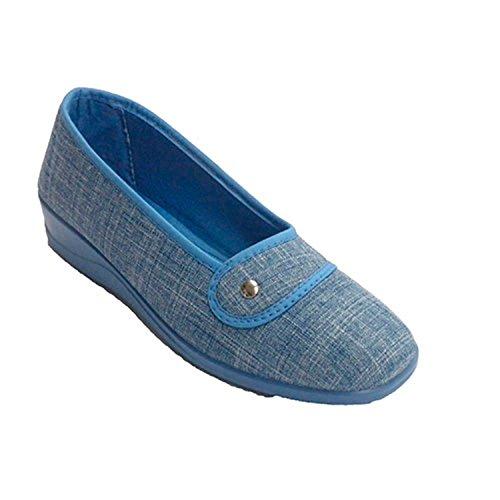 Donna con motivo scarpa chiusa da un lato Nevada jeans