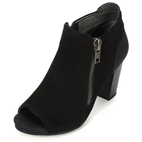 WHITE MOUNTAIN Daytona' Women's Bootie, Black - 7.5 (Womens Mountain Ankle Boot)