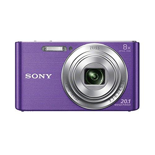 Sony DSC-W830 Digitalkamera (20,1 Megapixel, 8x optischer Zoom, 6,8 cm (2,7 Zoll) LC-Display, 25mm Carl Zeiss Vario Tessar Weitwinkelobjektiv, SteadyShot) violett