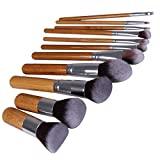 Facial Bones Names - 11-Pieces Makeup Brushes Beauty Tools Bamboo Handle Makeup Brush Set