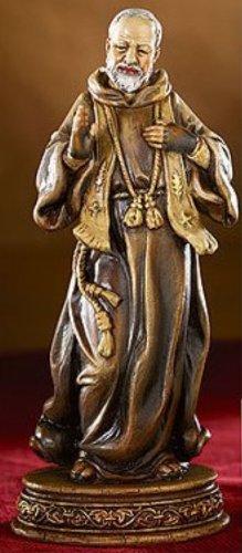 Catholic Patron Saint St Padre Pio Statue, 6 1/4 Inch