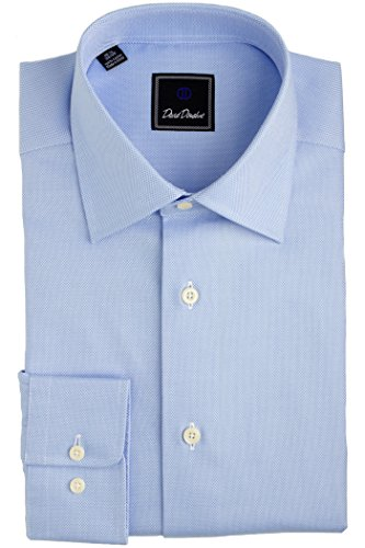 David Donahue Mens Royal Oxford Regular Fit Dress Shirt Blue Size 16, 32/33 by David Donahue