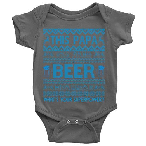 (My Papa Drinks Beer Baby Bodysuit, Make Beer Disappear Cute Baby Bodysuit (NB, Baby Bodysuit - Dark)