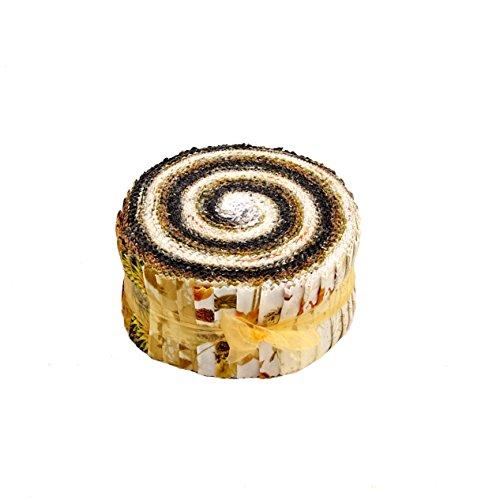 Kanvas Studio Natural Beauty Pinwheel 40 2.5-inch Strips Jelly Roll Benartex ()