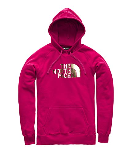 The North Face Women's's Half Dome Pullover Hoodie - Cerise Pink & Gold Foil - XS ()