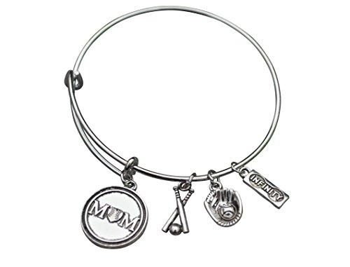 Baseball Mom Bracelet- Baseball Jewelry For Moms -Softball Mom Bracelet- Perfect Gift (Baseball Charm Bracelet)