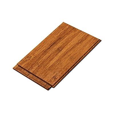 "Cali Bamboo - Solid Click Bamboo Flooring, Medium Java Brown - Sample Size 8"" L x 3 3/4"" W x 7/16"" H"