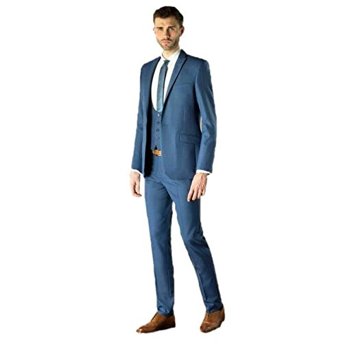 Men's Slim Fit Groom Tuxedo Groomsman Wedding Suits Formal Suits ...