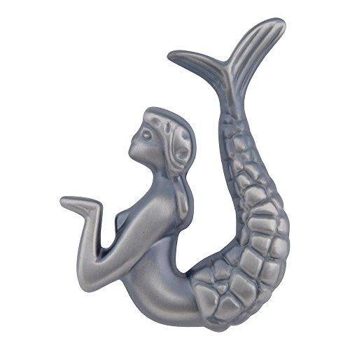 Atlas Homewares 190R-P 2-1/2-Inch Mermaid Knob - Right, Pewter