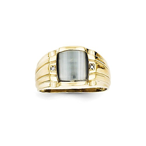 10K Yellow Gold (0.008cttw) Gray Cats Ey - Cat Eye 10k Ring Shopping Results
