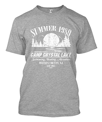 Summer 1980 Camp Crystal Lake Men's T-Shirt (Light Gray, X-Large)