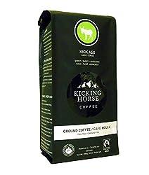 Kicking Horse Ground Coffee, Kick Ass Dark Roast, 10 Ounce