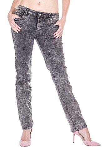 Monkey Zip Grau Donna Jeans Basic Blue RxwpYBY