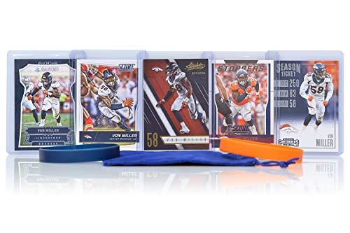 Von Miller Football Cards Assorted (5) Bundle - Denver Broncos Trading Cards ()