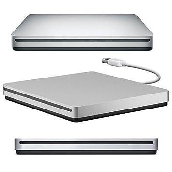 Eximtrade USB Externa Ranura DVD VCD CD RW Lector Reproductor Quemador Combo Escritor para Apple Macbook