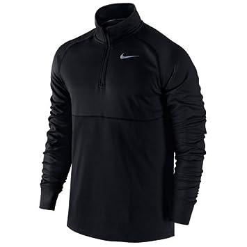 Nike Racer 1/2 Zip Camiseta de Manga Larga de Fútbol Noc Cremallera 1/2, Hombre, Negro/Plata Metalizado, XL: Amazon.es: Deportes y aire libre