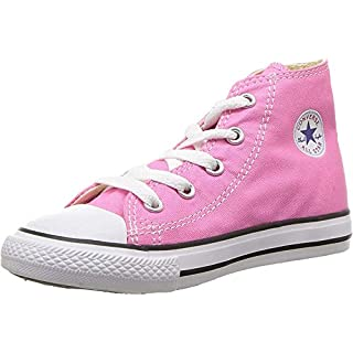 Converse Unisex-Child Chuck Taylor All Star High Top Sneaker, pink, 7 M US Toddler