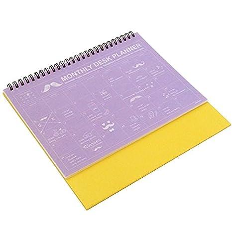 Bonjour Monthly Desktop Easel Calendar Planning Calendar Wire Bound Academic Year Planner Organizer Schedule Agenda Planner, 12 Months, ...
