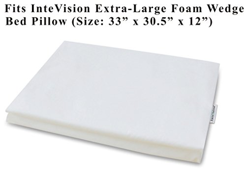 InteVision 400 Thread Count, 100% Egyptian Cotton Pillowcase. Designed to Fit the InteVision Extra-Large Foam Wedge Bed Pillow (33