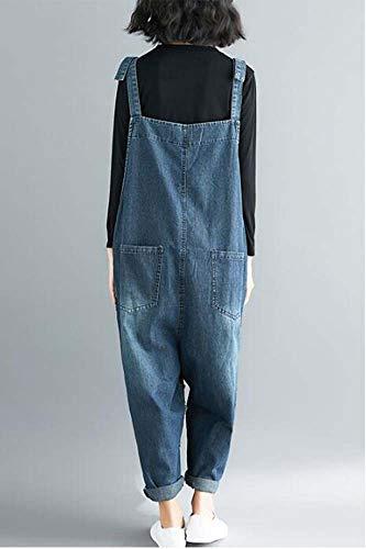 Grandi Donne Comodo Blu Allentati Nuovo Marea I Della Appendono Pantaloni Jeans Di Del Keephen Arte Autunno Che Delle Tuta File BIqRHd