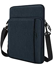 """Dadanism 12.9 Inch Tablet Sleeve Shoulder Bag for New iPad Pro 12.9"""" 2018-2021, Protective Waterproof Pouch Case for 12.4"""" Samsung Galaxy Tab S7+, 12.3"""" Surface Pro 7/6/5/4, MacBook Pro 13"""" - Indigo"""