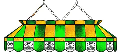 Imperial Officially Licensed NFL Merchandise: Tiffany-Style Stained Glass Billiard/Pool Table Light, Green Bay - Imperial International Green
