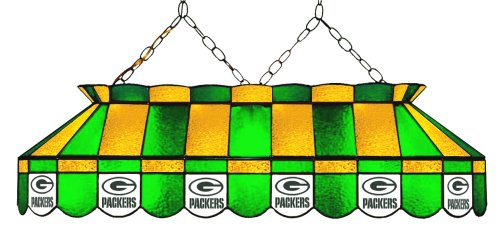 (Imperial Officially Licensed NFL Merchandise: Tiffany-Style Stained Glass Billiard/Pool Table Light, Green Bay Packers)