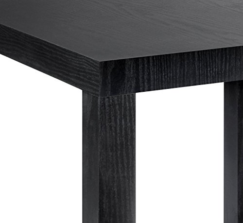 black wood stains amazoncom dhp parsons modern end table black wood grain
