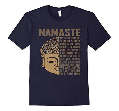 Mens Buddha Quote T-Shirt, india hindu shanti T shirt XL Navy by Unknown