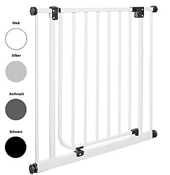 90/° Feststell-Funktion Automatik-T/ür 62 bis 222 cm IMPAG Schutzgitter EASY STEP Treppenschutzgitter/| T/ürschutzgitter |/Absperrgitter/ |/Klemmgitter ohne Bohren /Öffnet in Laufrichtung