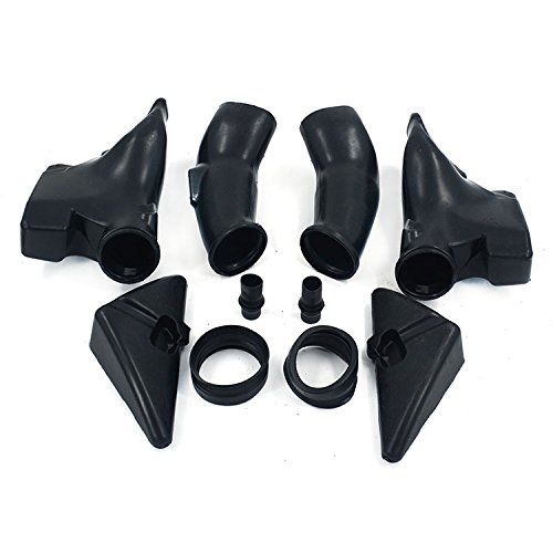 An Xin Motorcycle Black Ram Air Intake Tube Duct Left Right Fit For Honda CBR600RR F5 2003 2004:
