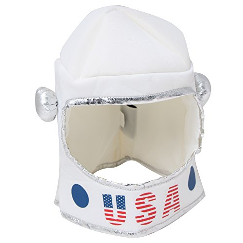 Kids Soft Fabric White Toy Astronaut Helmet]()