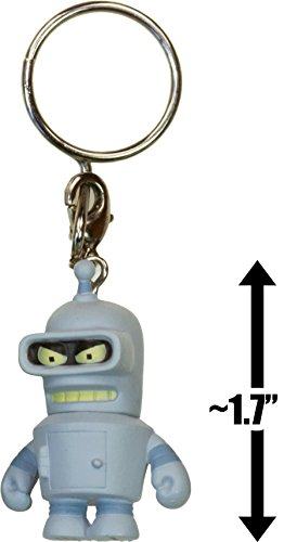 "Bender ~1.7"" Mini-Figure Keychain: Futurama x Kidrobot 3D Vinyl Keychain Series"