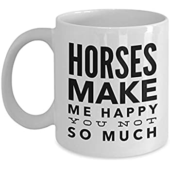 Amazon.com: Horses Make Me Happy-Horse Gifts For Women ...