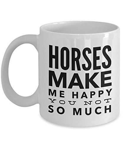(Horses Make Me Happy-Horse Gifts For Women-Horse Gifts For Horse Lovers-Horse Rider Gifts-Horse Related Gifts-Horse Gifts For Teens-Horse Mug-Horse Coffee Mug-Horse Mug Set-Horse Themed Gifts-YesEcart )