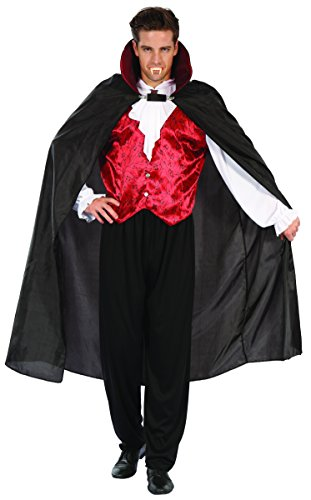 Vampire Gothic Adult Costumes (YOU LOOK UGLY TODAY Men's GOTHIC VAMPIRE Halloween Party Costume Adult Cosplay -Large)